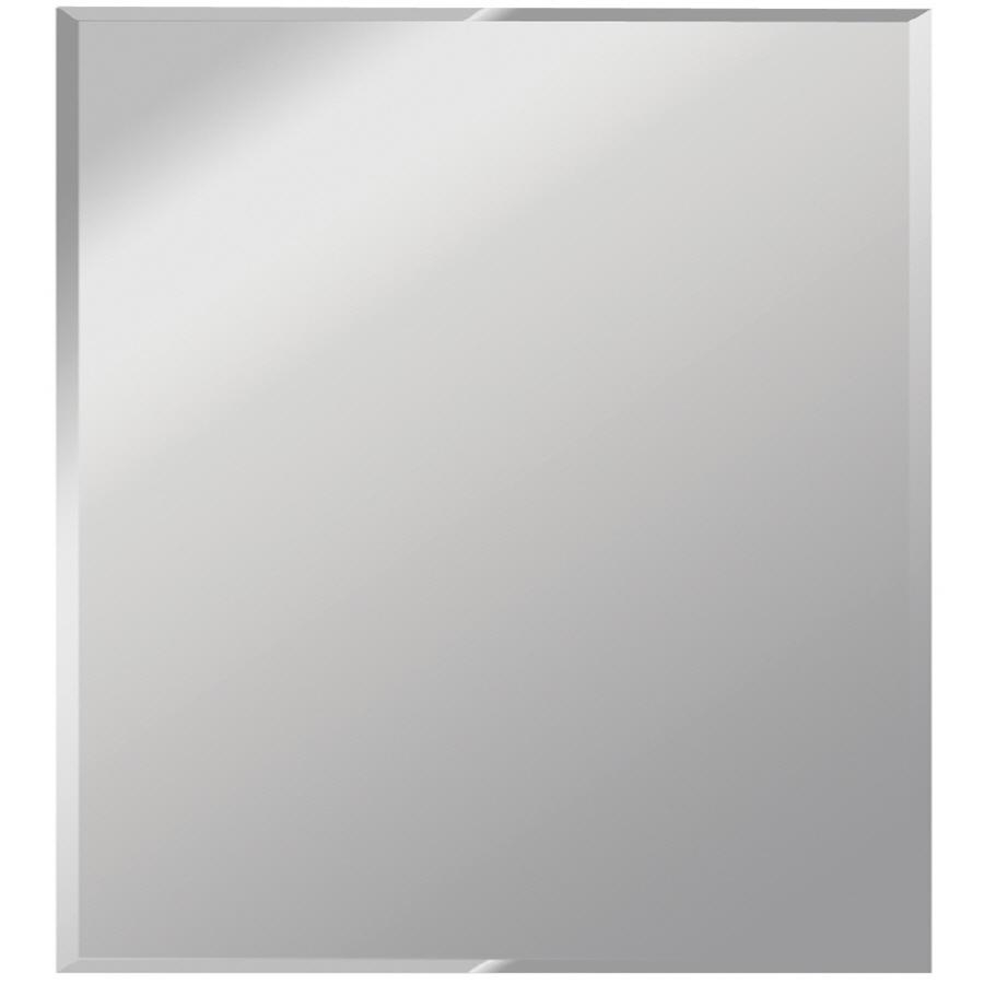Shop Dreamwalls Silver Beveled Square Frameless Wall Mirror At In Wall Mirror Full Length Frameless (Image 13 of 20)