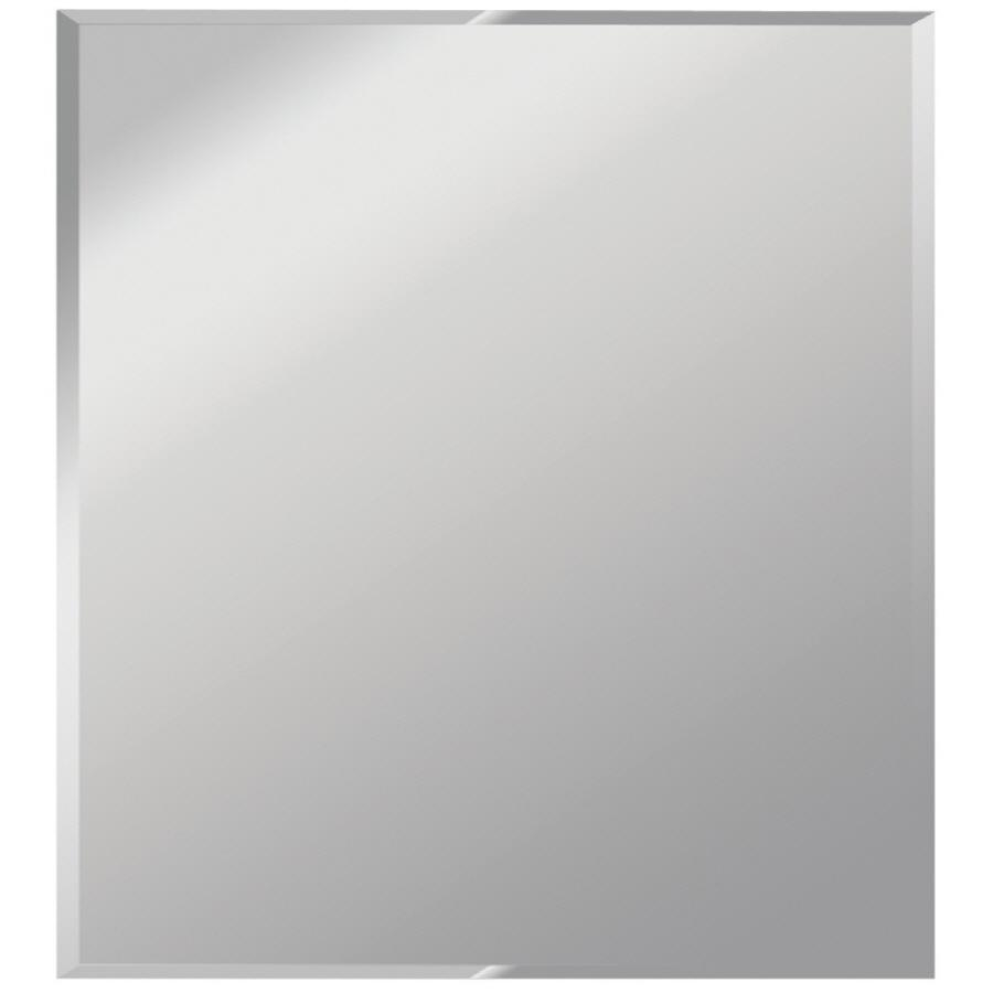 Shop Gardner Glass Products Silver Beveled Frameless Wall Mirror For Frameless Wall Mirrors (Image 12 of 20)
