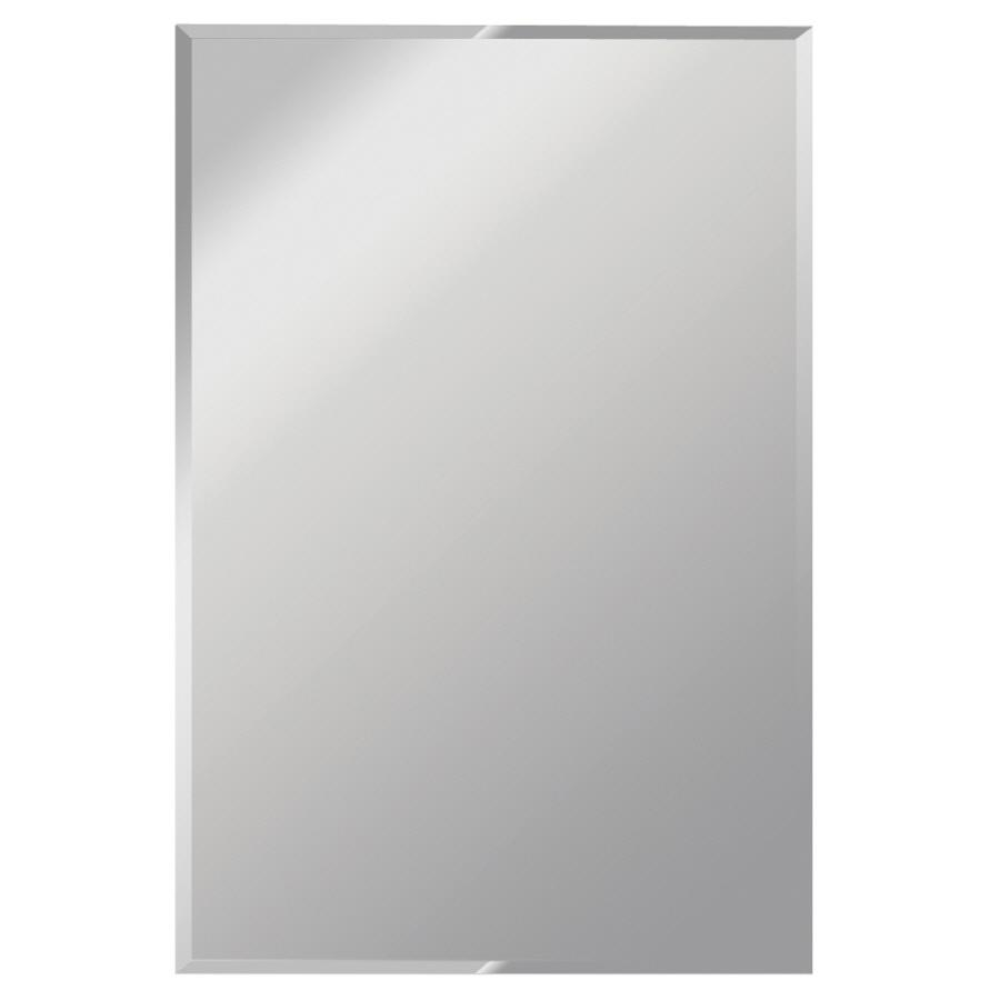 Shop Gardner Glass Products Silver Beveled Frameless Wall Mirror Throughout Bevelled Mirror Glass (Image 20 of 20)