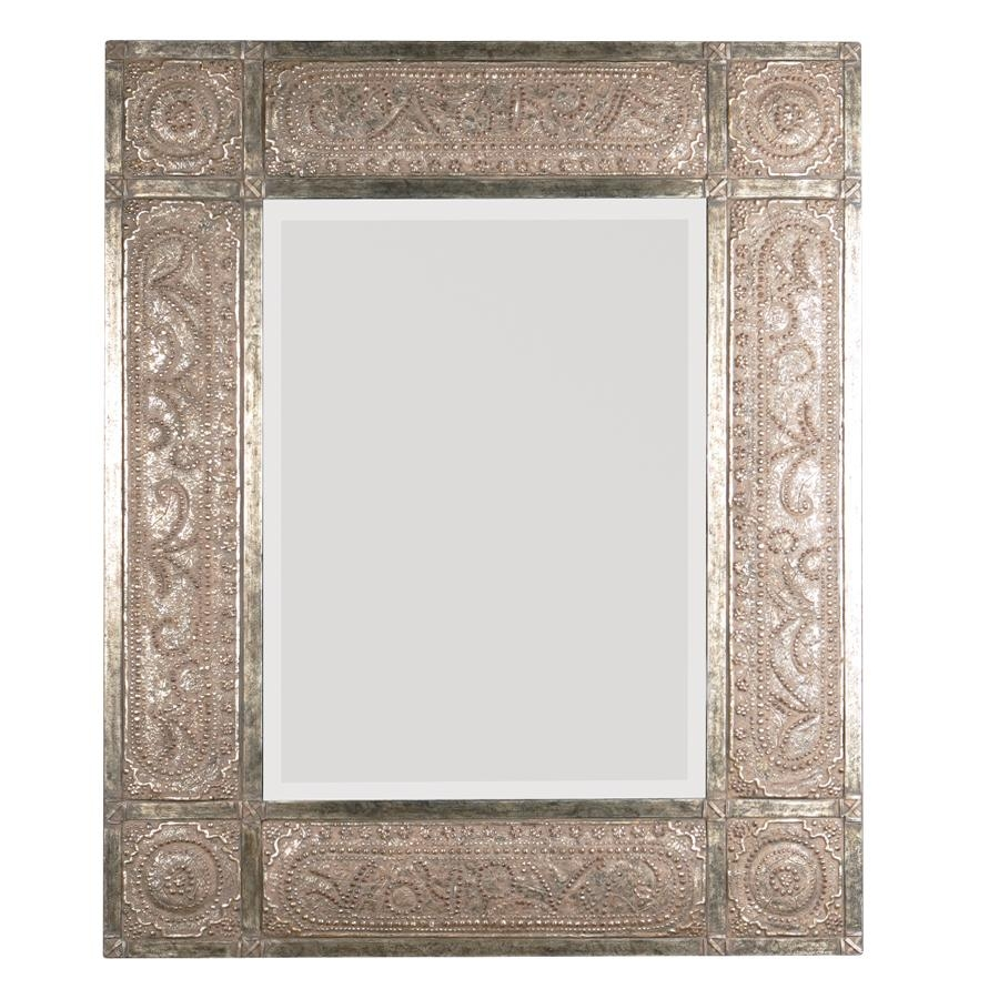 Shop Global Direct Heavily Distressed Golden Champagne Leaf For Red Wall Mirror (View 6 of 20)