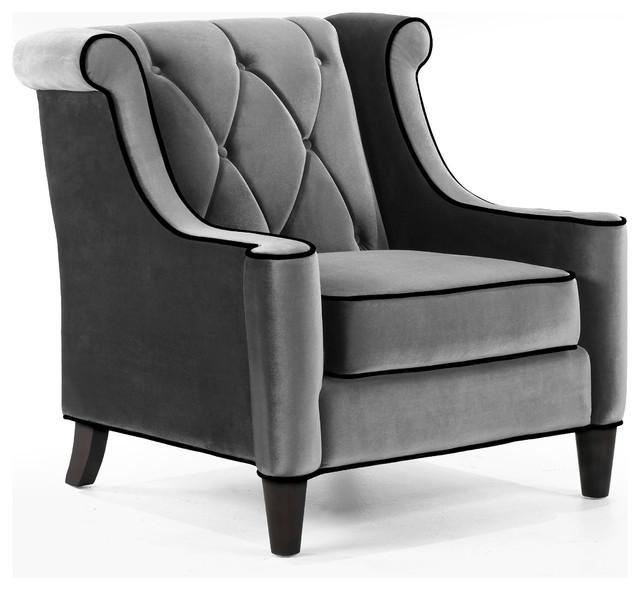 Shop Houzz | Armen Living Barrister Chair, Velvet With Crystal Pertaining To Barrister Velvet Sofas (Image 19 of 20)