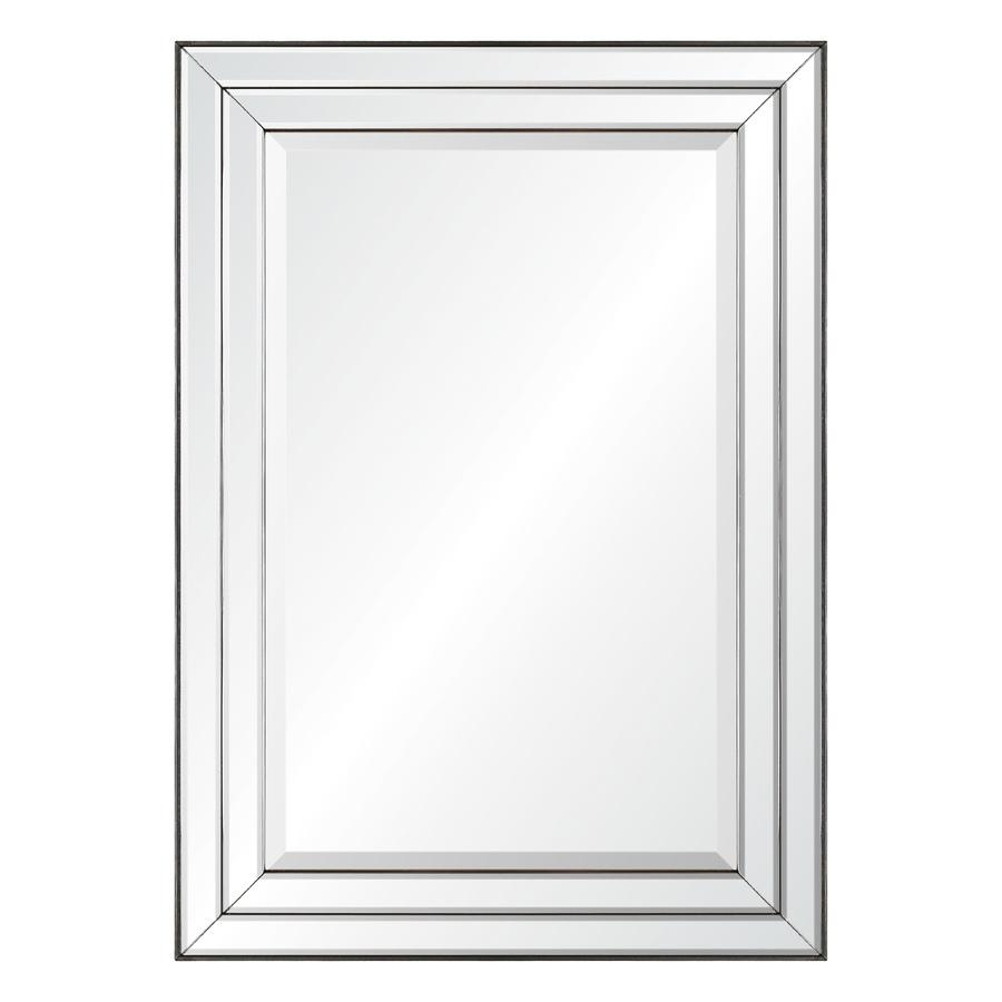 Shop Mirrors & Mirror Accessories At Lowes In Square Bevelled Mirror (Image 17 of 20)