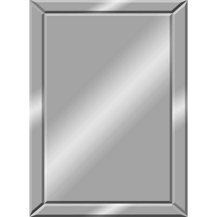 Shop Mirrors & Mirror Accessories At Lowes Regarding Frameless Wall Mirrors (Image 15 of 20)