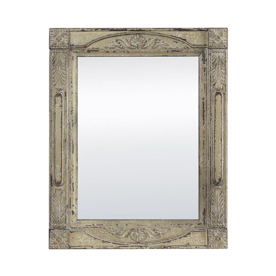 Shop Sterling Home Antique Cream Polished Wall Mirror At Lowes Regarding Antique Cream Wall Mirrors (View 10 of 20)