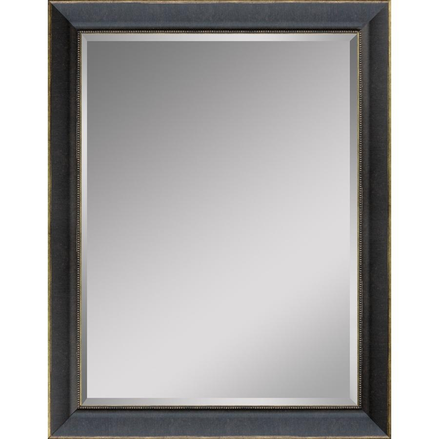 Shop Style Selections Distressed Black Rectangle Framed Wall Inside Distressed Framed Mirror (Image 17 of 20)