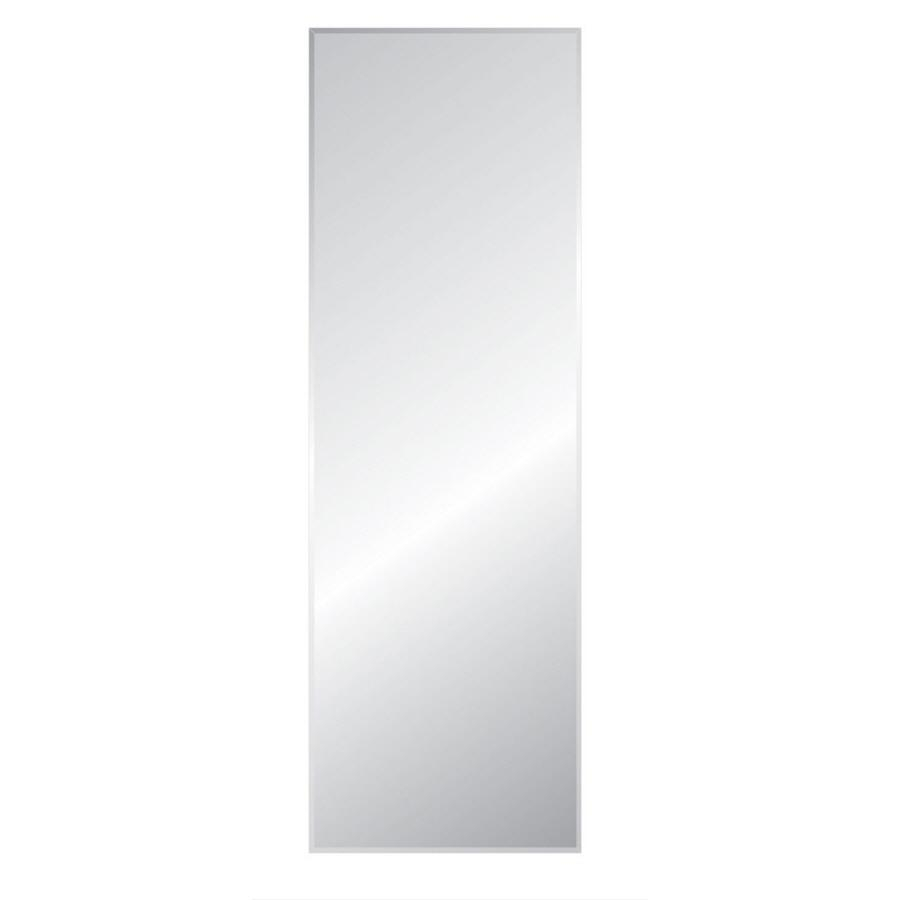 Shop Style Selections Silver Beveled Frameless Wall Mirror At In Beveled Full Length Mirror (Image 19 of 20)