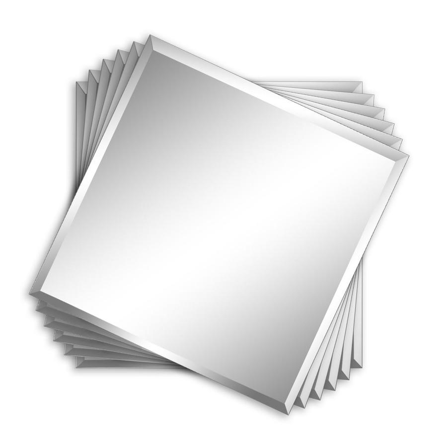 Shop Style Selections Silver Beveled Square Frameless Wall Mirror Regarding Small Bevelled Mirror (View 17 of 20)