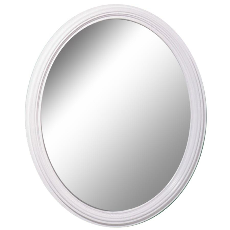 Shop Style Selections White Oval Wall Mirror At Lowes Throughout Silver Oval Wall Mirror (Image 15 of 20)