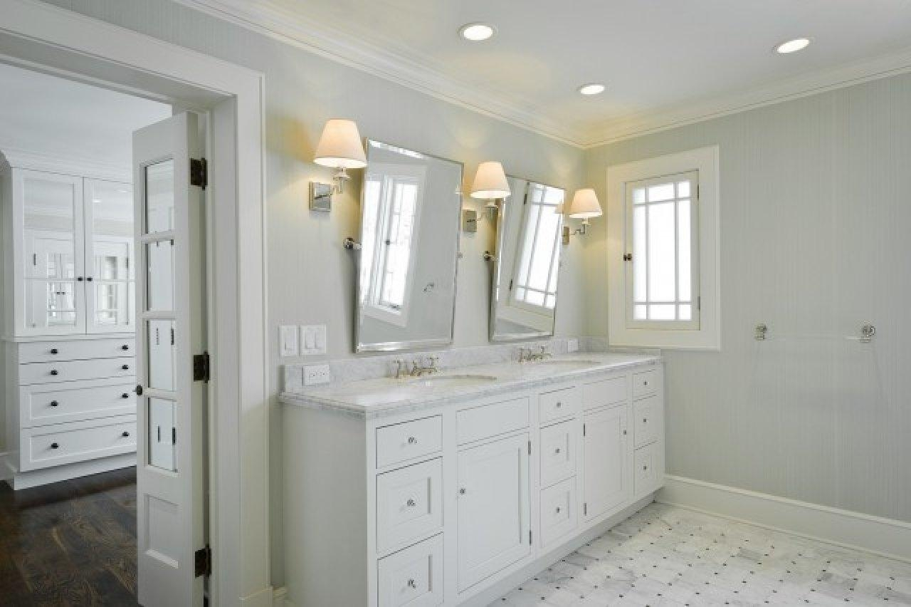 Shower Wall Tile Sink Mount Wall Hanging Mirror Long Horizontal Throughout Long Frameless Mirror (Image 18 of 20)