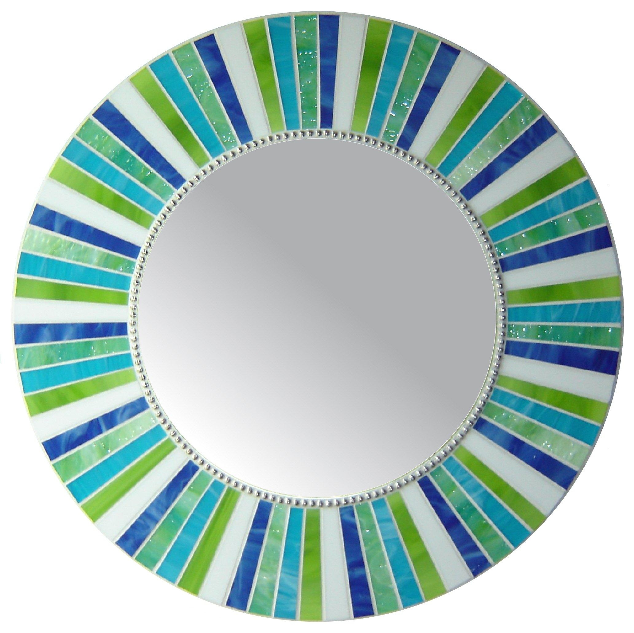 Signature Collection—Custom Mosaic Mirrors By Opus Mosaics Throughout Round Mosaic Mirrors (View 2 of 20)