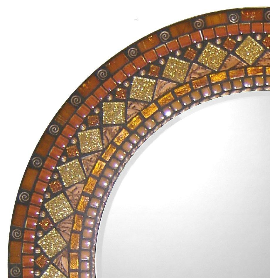 Signature Collection—Custom Mosaic Mirrors By Opus Mosaics With Round Mosaic Mirrors (Image 19 of 20)