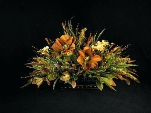 Silk Floral Arrangements For Dining Room Table Dried Floral Intended For Artificial Floral Arrangements For Dining Tables (Image 18 of 20)