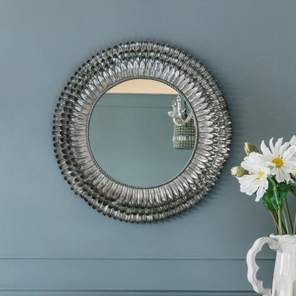 Silver Feather Mirror – Small | Mirrors | Graham And Green With Small Silver Mirrors (Image 15 of 20)