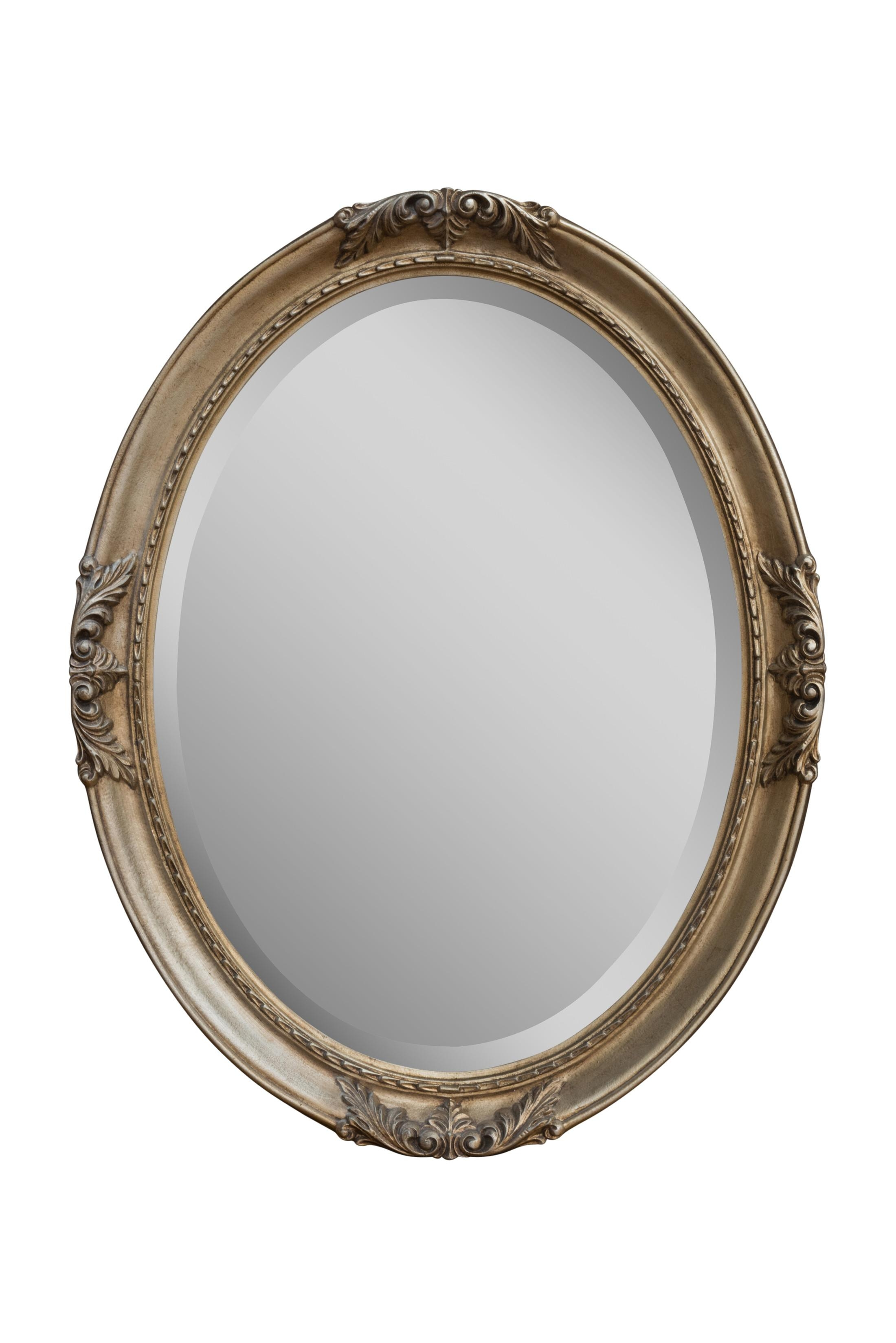Silver Flora Oval | Bedroom Mirrors For Sale – Panfili Mirrors With Oval Silver Mirror (View 7 of 20)