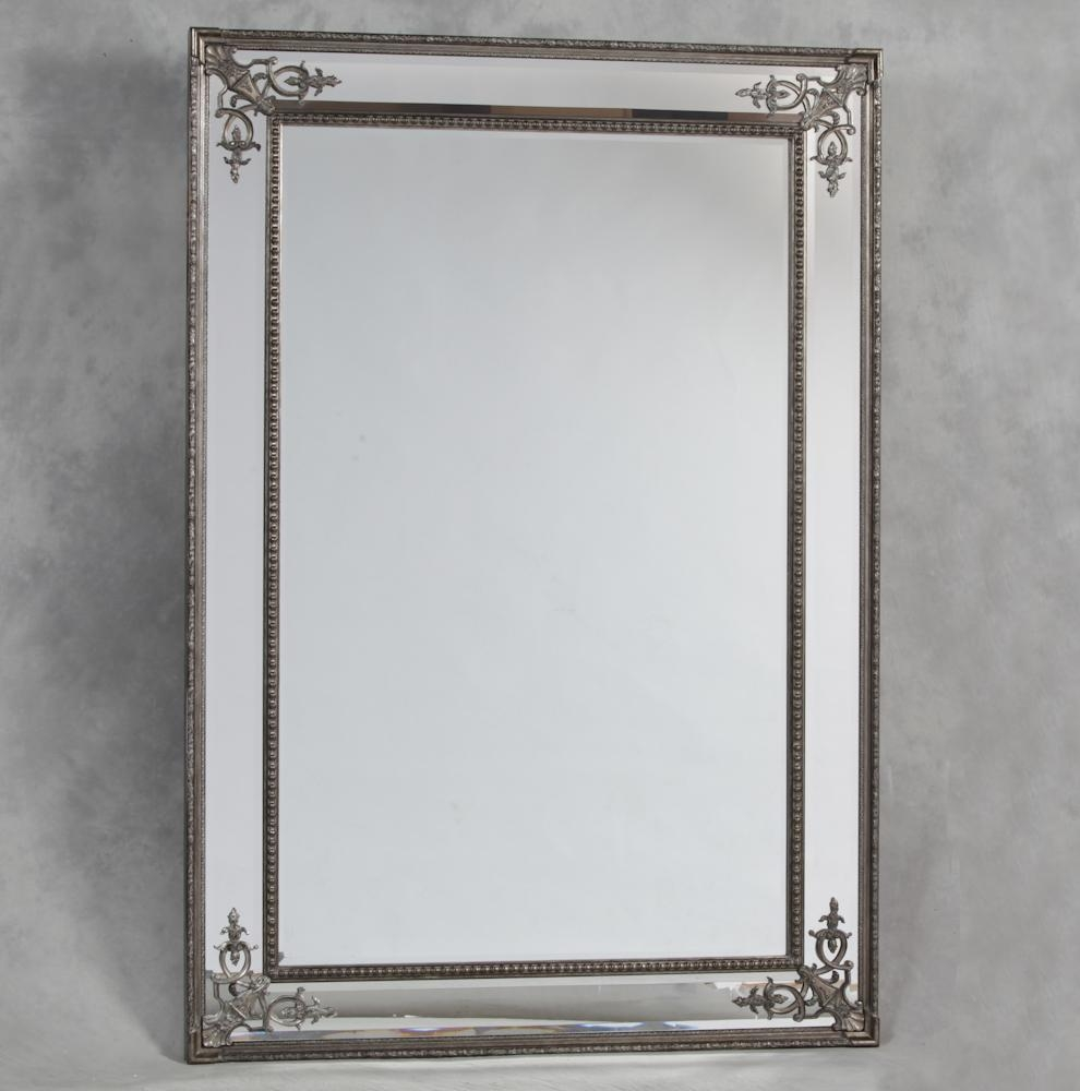 Silver French Style 'cimiero' Wall Mirror 192 X 134Cm Silver Throughout French Style Wall Mirror (Image 20 of 20)