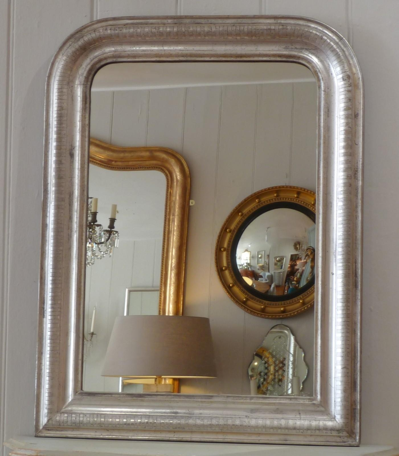 Silver Gilt Arch Top Mirror – Decorative Collective Intended For Curved Top Mirror (Image 19 of 20)