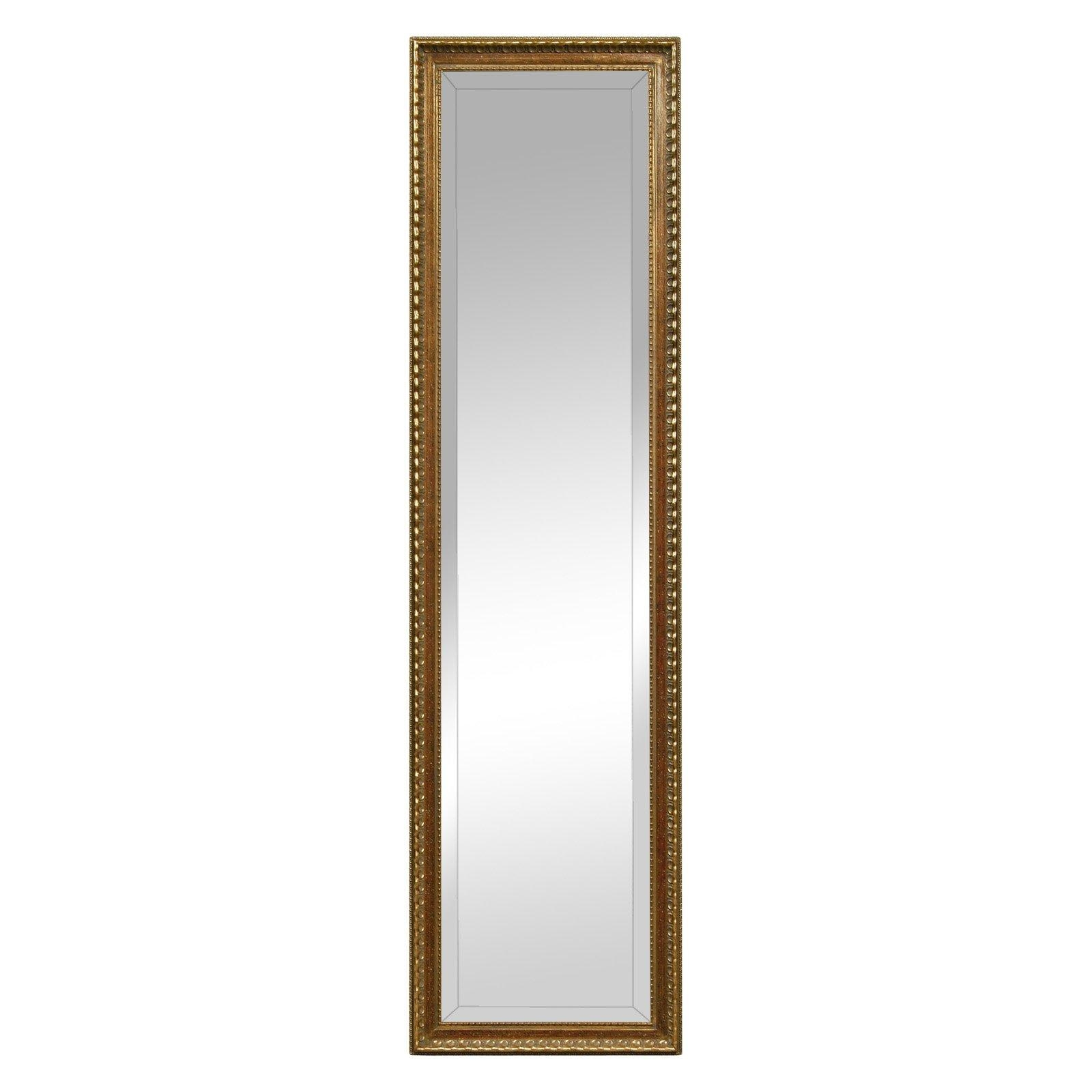 Silver & Gold Full Length Cheval Floor Mirror – 18W X 64H In Intended For Gold Full Length Mirror (Image 19 of 20)