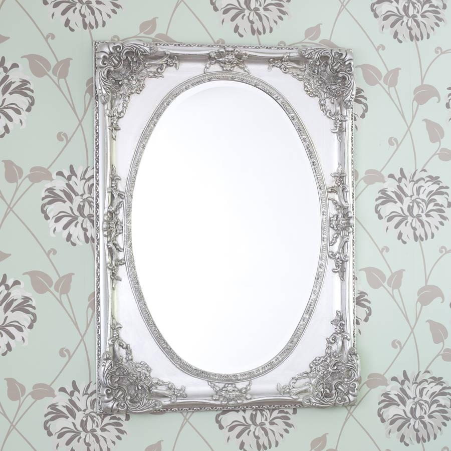 Silver Ornate Oval Shaped Mirrordecorative Mirrors Online Regarding Ornate Oval Mirrors (Image 16 of 20)