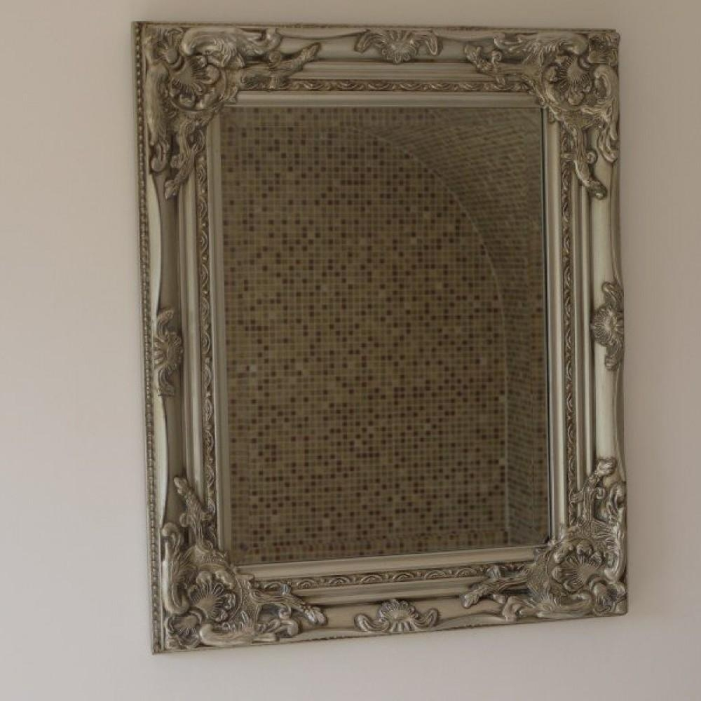 Silver Ornate Wall Mirror | Oscar's Boutique – Pertaining To Silver Ornate Wall Mirror (View 20 of 20)