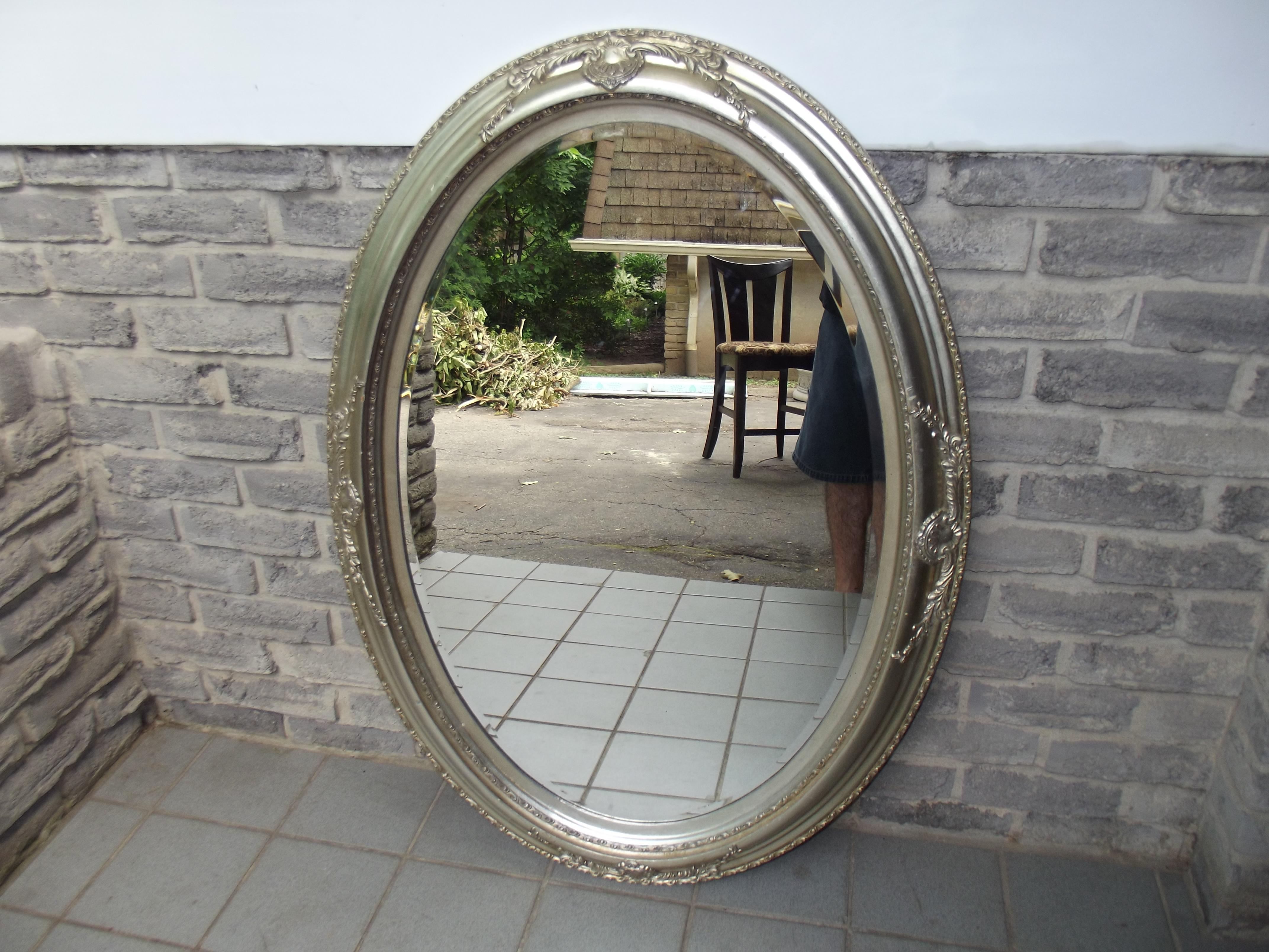 Silver Oval Wall Mirror – Secondhand Pursuit In Silver Oval Wall Mirror (Image 16 of 20)