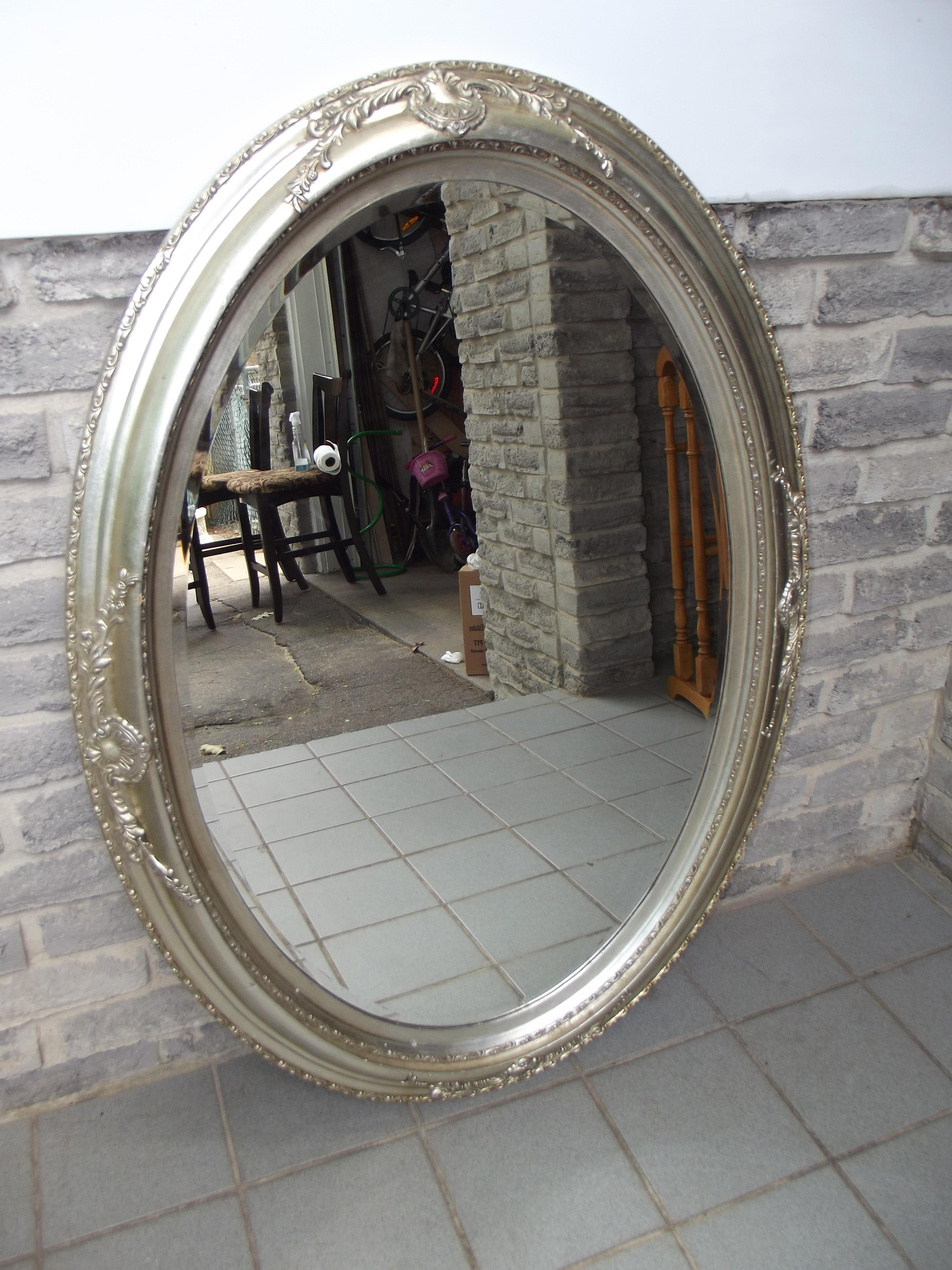 Silver Oval Wall Mirror – Secondhand Pursuit Inside Silver Oval Wall Mirror (Image 17 of 20)