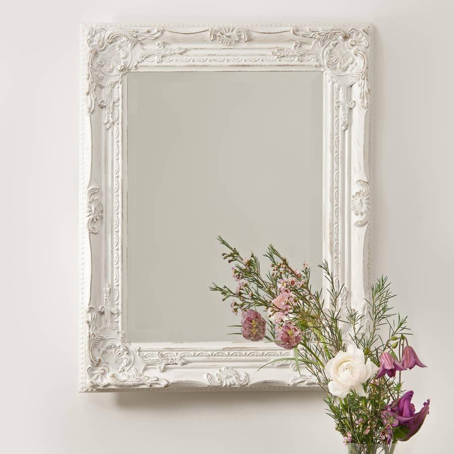 Silver Pewter Mirrorhand Crafted Mirrors | Notonthehighstreet Pertaining To Pewter Ornate Mirror (Image 17 of 20)