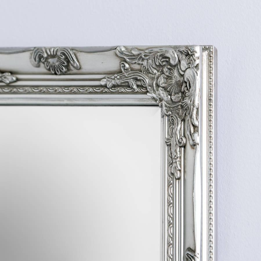 Silver Pewter Mirrorhand Crafted Mirrors | Notonthehighstreet Within Pewter Ornate Mirror (Image 18 of 20)