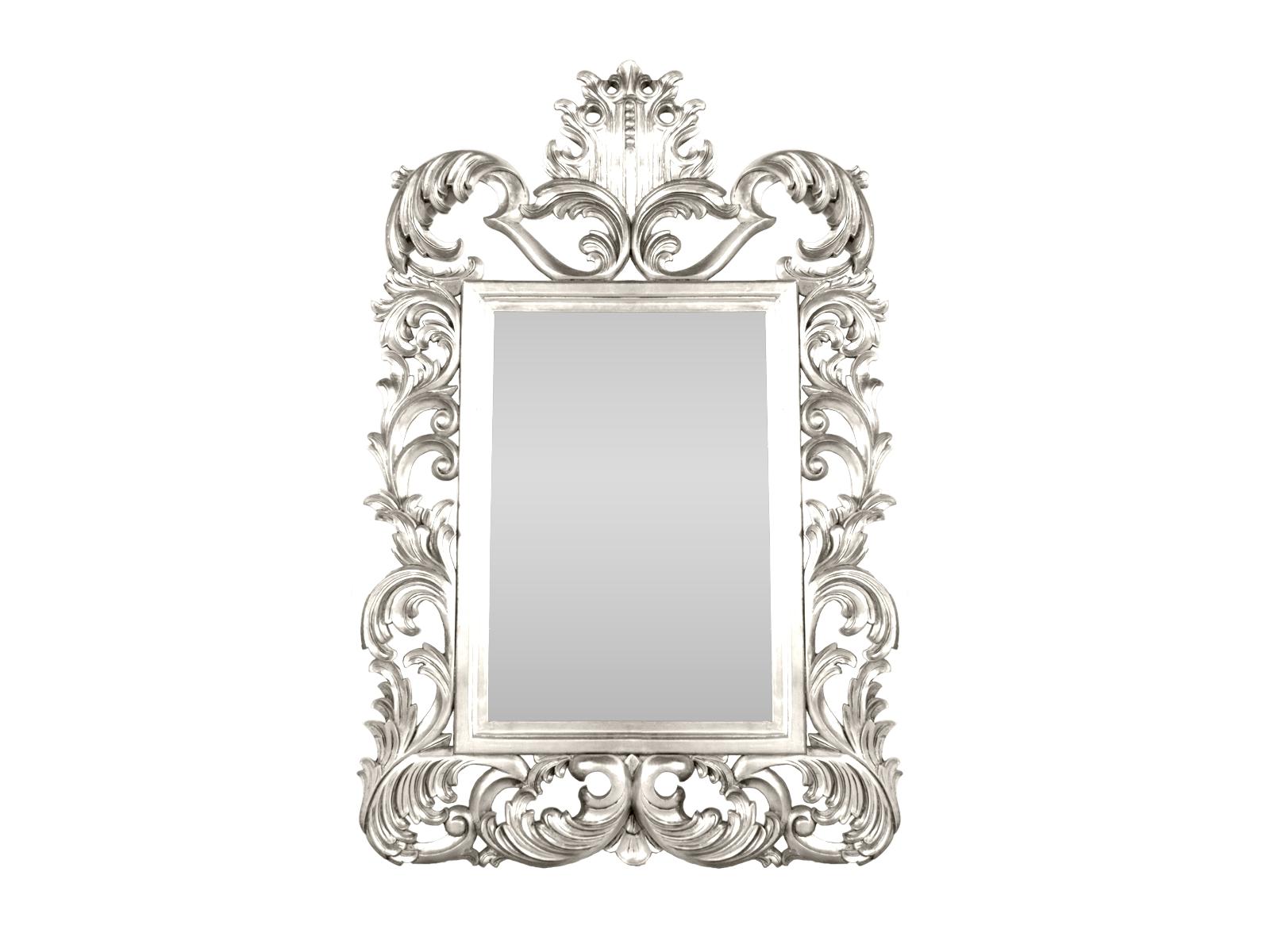 Silver Rococo Mirror – Hidden Mill Within White Rococo Mirror (Image 19 of 20)