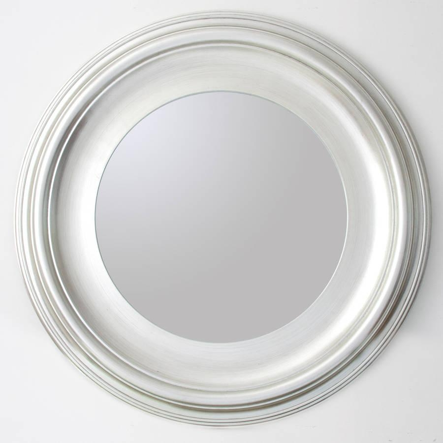 Silver Round Mirrordecorative Mirrors Online In Round White Mirror (Image 17 of 20)