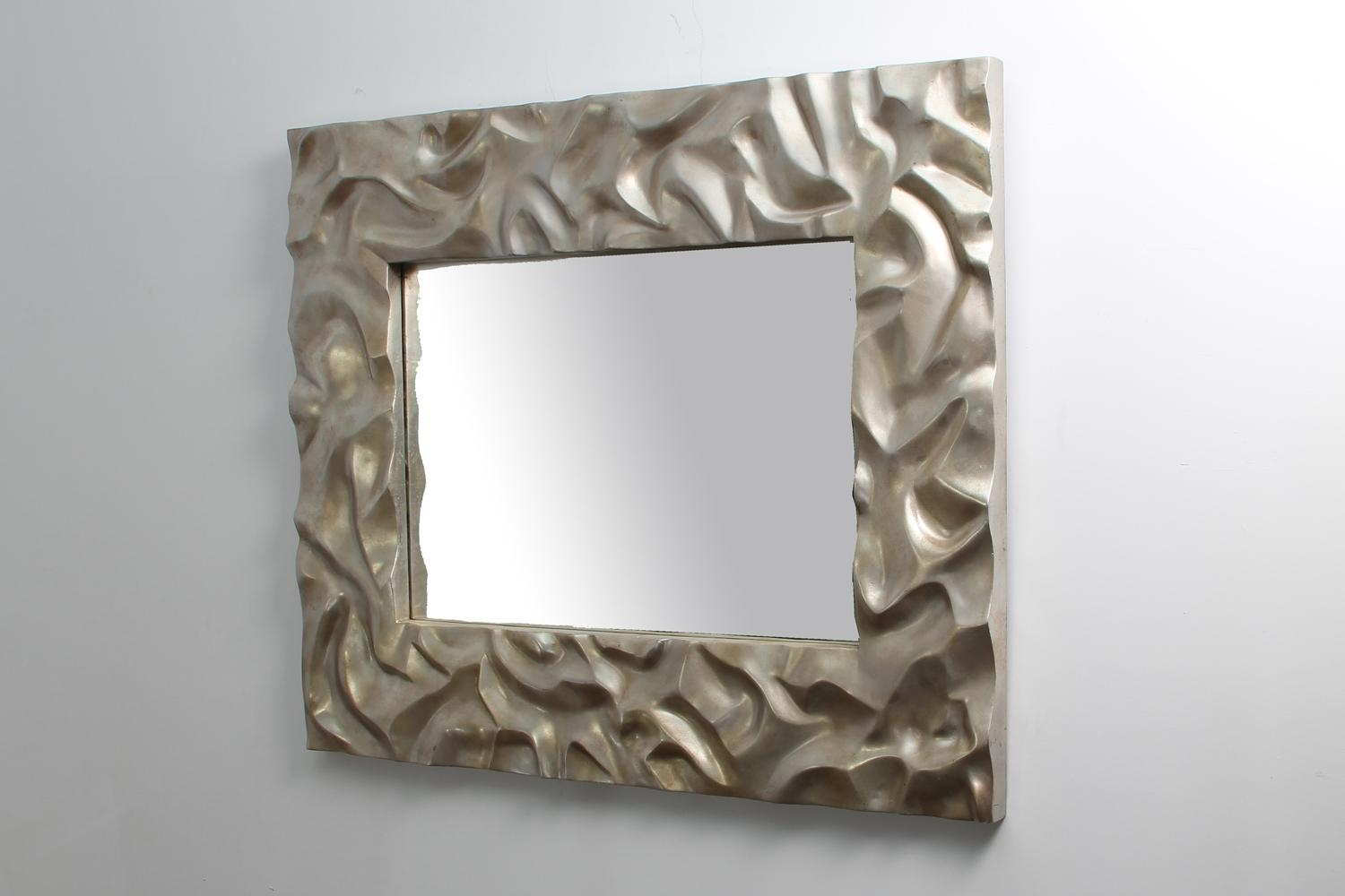Silver Sand Ripple Mirror | Forwood Design For Modern Silver Mirror (Image 18 of 20)