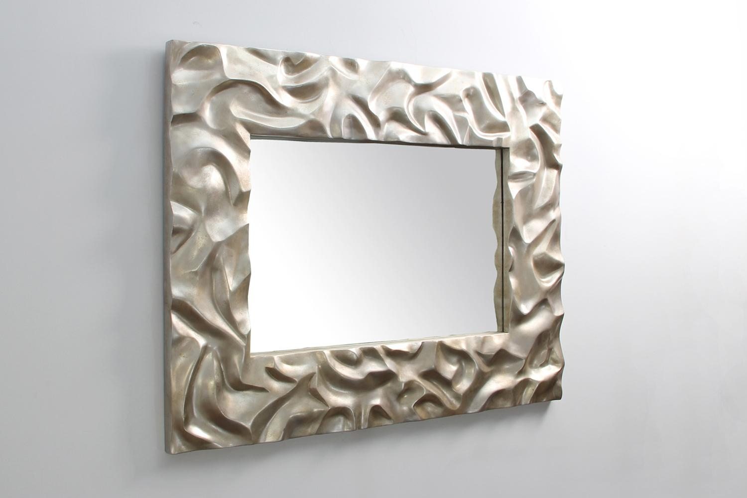 Silver Sand Ripple Mirror | Forwood Design Intended For Modern Silver Mirror (Image 19 of 20)