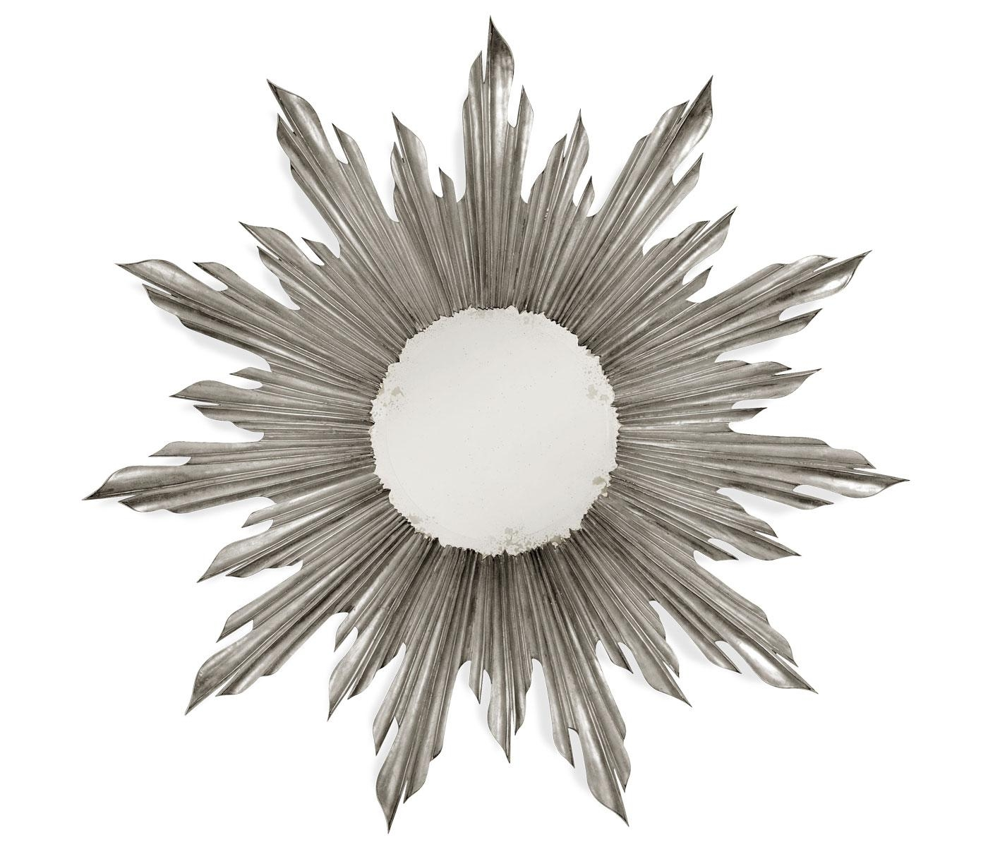 Silver Sunburst Mirror Regarding Small Silver Mirrors (Image 16 of 20)