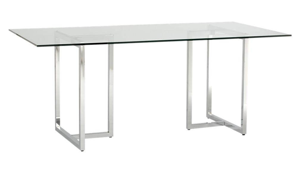 "Silverado 72"" Chrome Dining Table 