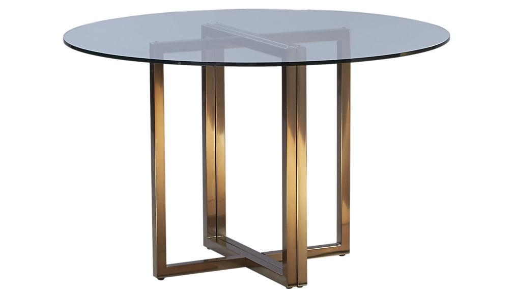 "Silverado Brass 47"" Round Dining Table 