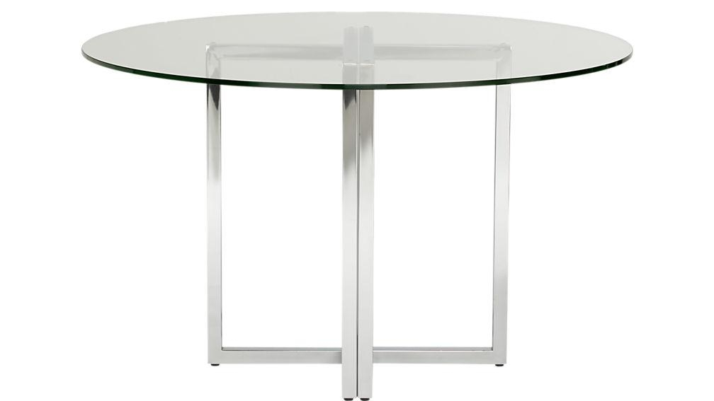 "Silverado Chrome 47"" Round Dining Table 