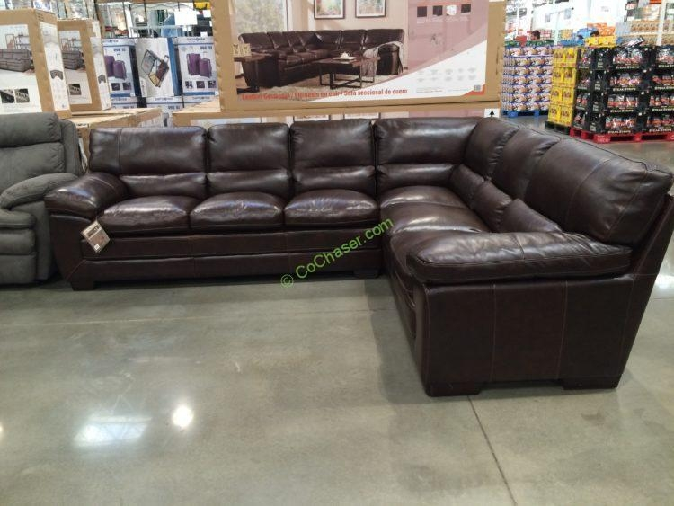 Simon Li Leather Sectional – Costcochaser Inside Costco Leather Sectional Sofas (Image 17 of 20)
