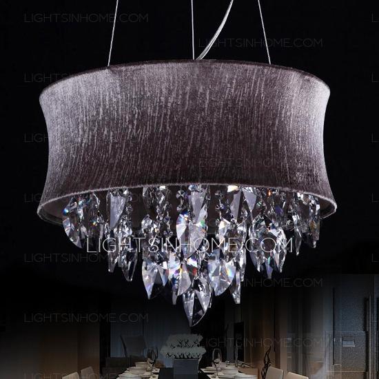 Simple 5 Light Hardware Drum Shaped Purple Crystal Chandelier With Purple Crystal Chandeliers (Image 23 of 25)