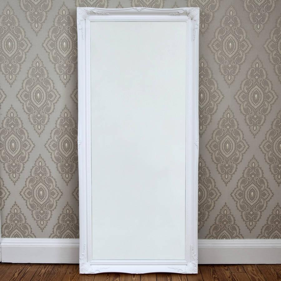 Simple Classic French White Mirrordecorative Mirrors Online Throughout White French Mirror (View 19 of 20)