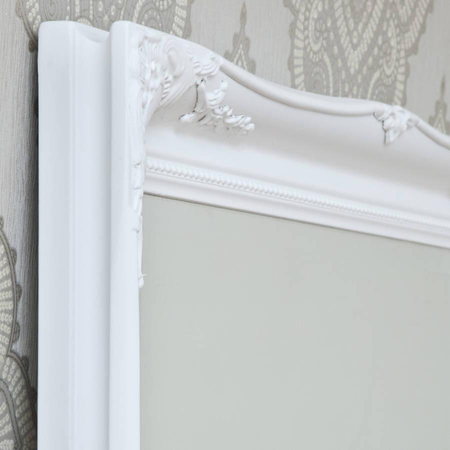 Simple Classic French White Mirrordecorative Mirrors Online With White French Mirror (View 10 of 20)