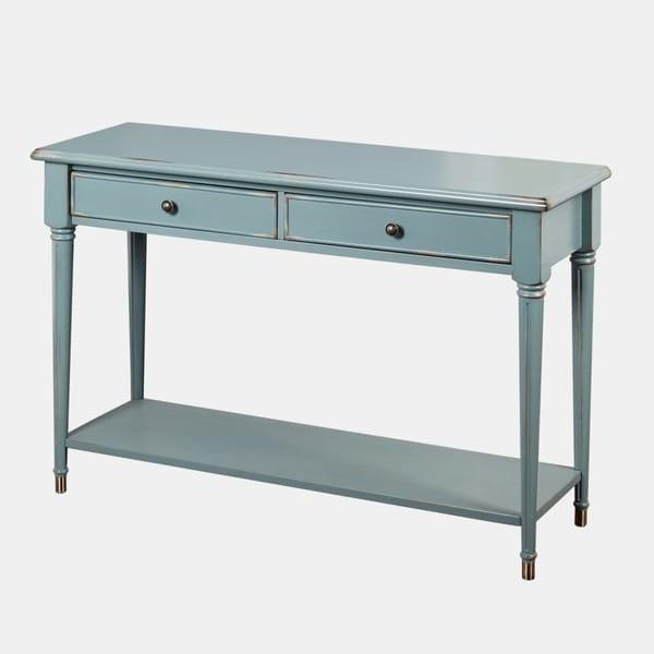Simple Living Emilia Blue Sofa Table – Free Shipping Today With Regard To Blue Sofa Tabless (Image 19 of 20)