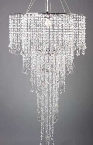 Simply Elegant Faux Crystal Decorative Chandelier Centerpiece With Regarding Faux Crystal Chandelier Centerpieces (View 15 of 25)
