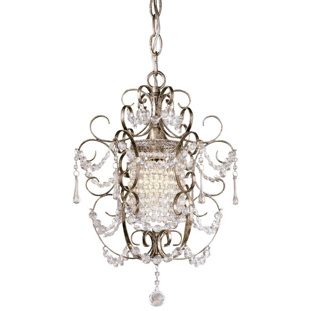 Single Light Crystal Mini Chandelier 3121 333 Destination Lighting Regarding Mini Crystal Chandeliers (Image 22 of 25)