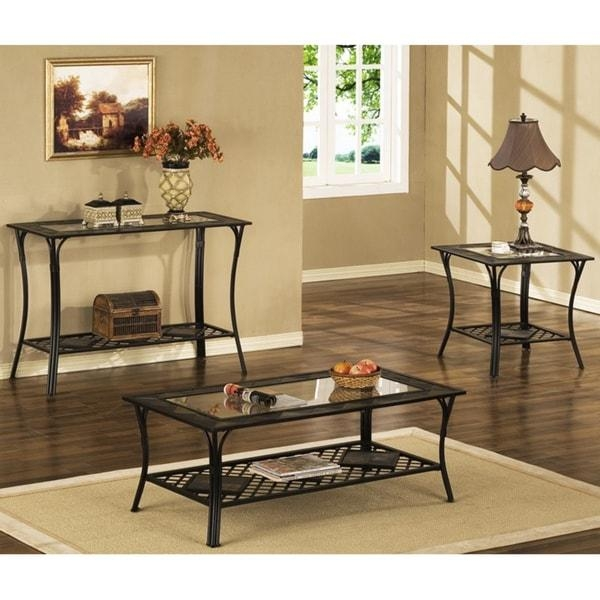 Slate/ Glass/ Steel Sofa Table – Free Shipping Today – Overstock Pertaining To Slate Sofa Tables (Image 16 of 20)