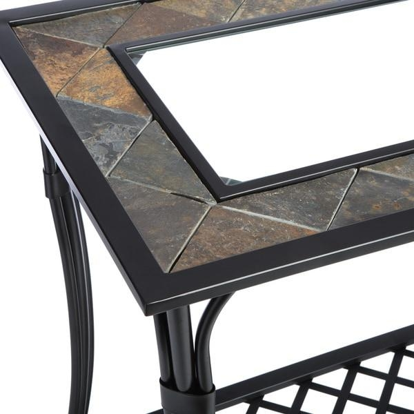 Slate/ Glass/ Steel Sofa Table – Free Shipping Today – Overstock With Slate Sofa Tables (Image 18 of 20)