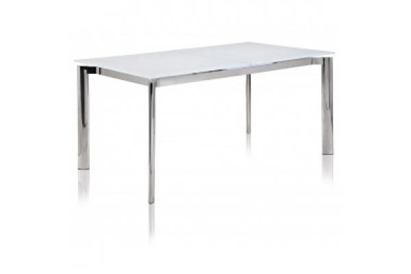 Sleek And Spacious Cameron Glass Extendable Dining Table Within Glass Extending Dining Tables (View 5 of 20)