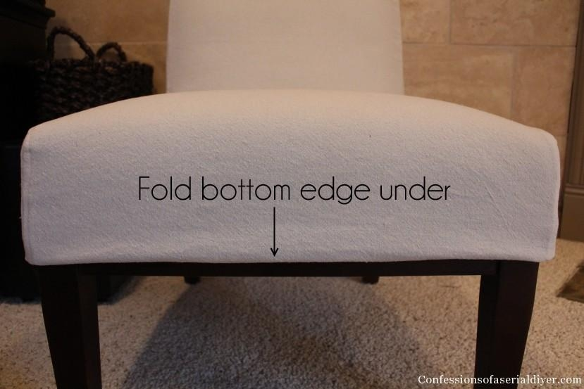 Slipcovering An Armless Accent Chair | Confessions Of A Serial Do Within Armless Slipcovers (Image 13 of 20)