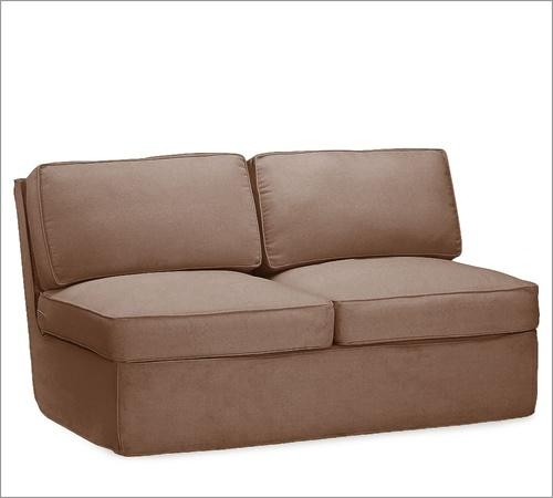 Slipcovers For Pb Westport Armless Loveseat Pertaining To Armless Slipcovers (Image 14 of 20)