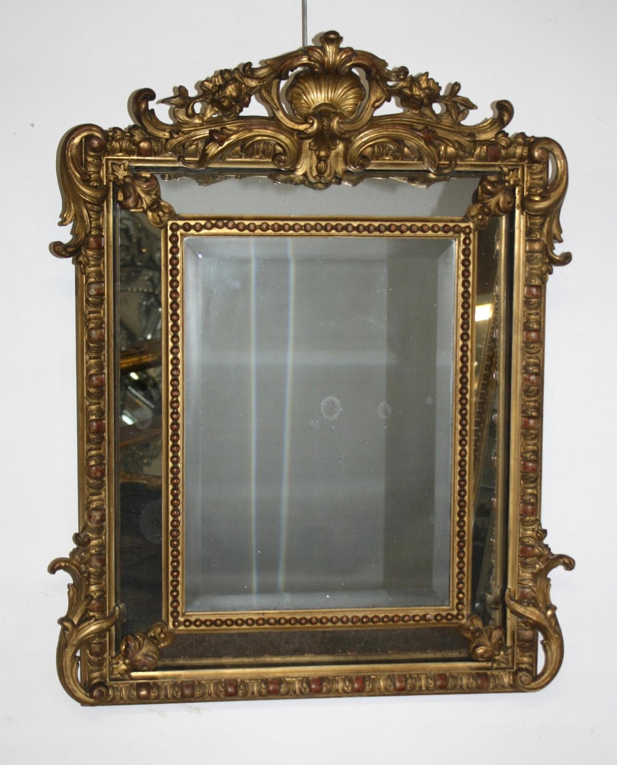 Small Cushioned Gilt Mirror Throughout Small Antique Mirrors (Image 18 of 20)