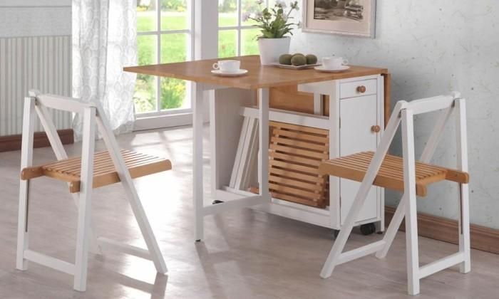 Small Folding Dining Table And Chairs Layout 2 Folding Dining For Compact Folding Dining Tables And Chairs (Photo 3 of 20)