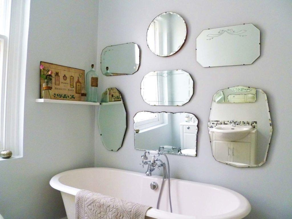 Small Frameless Beveled Mirrors | Vanity And Nightstand Decoration Throughout Small Bevelled Mirror (View 16 of 20)